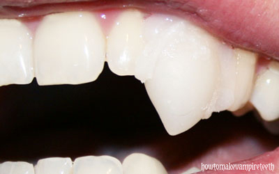 how to make vampire teeth at home